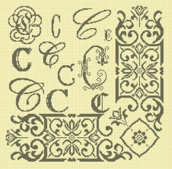 Cadre monogramme C (0)