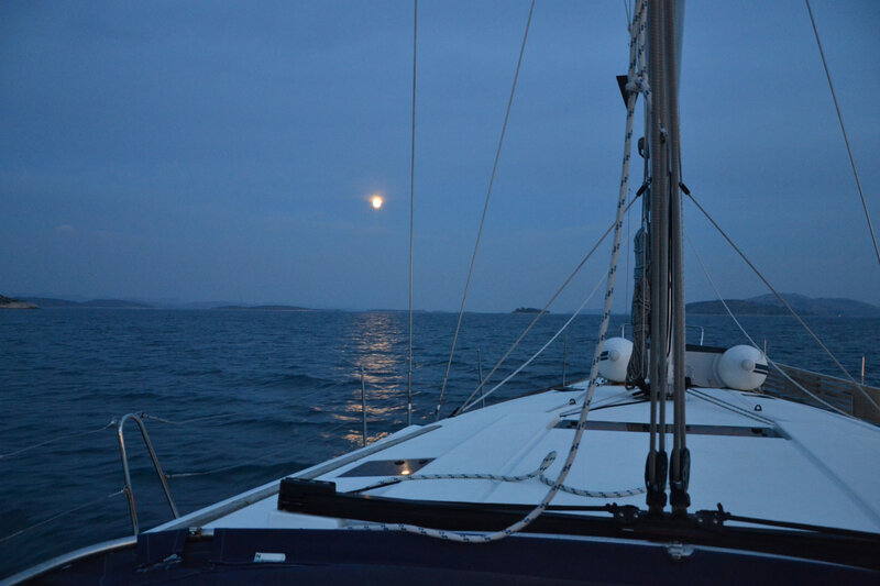 La lune sur l'archipel des Kornati, jeudi 29 octobre 2020