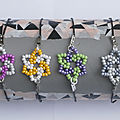 Bracelets fleurs en perles