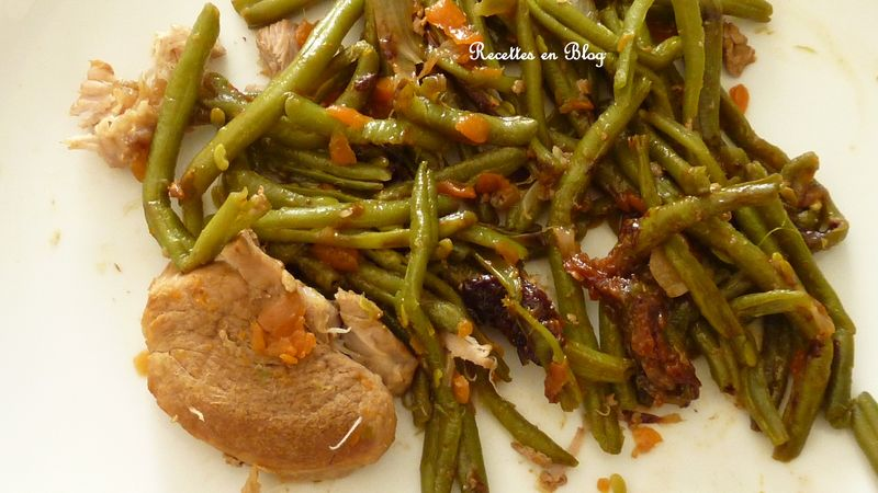 filet mignon de porc et haricots verts a la chinoise recettes en blog. Black Bedroom Furniture Sets. Home Design Ideas