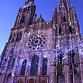 Les illuminations de la cathédrale de chartres (eure-et-loir) le 8 juillet 2019 (2)