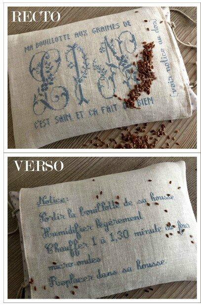 ma bouillotte aux graines de lin