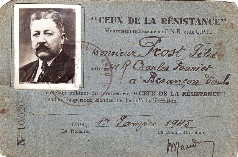 Félix Prost résistant