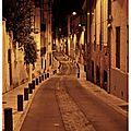 Perpignan, rue petite la real by night