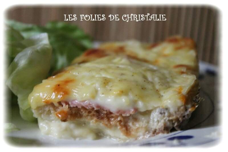 Croque cake raclette 2