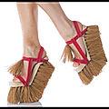 sandales balai brosse