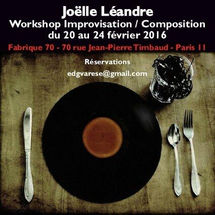 Joelle Léandre - Workshop - Fabrique 70 - février 2016