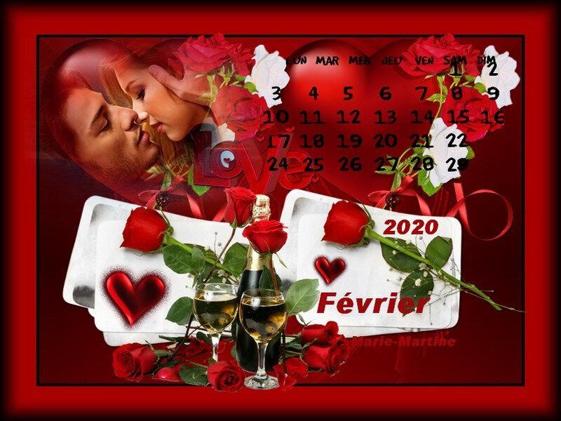 calendrier février