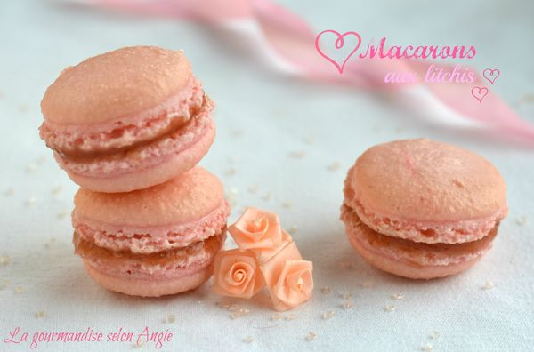 macarons litchis roses