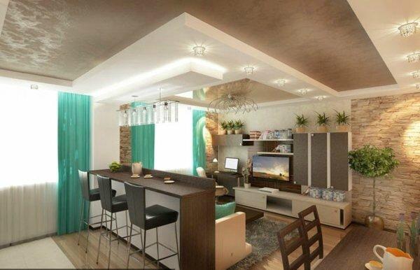 Décoration de plafond pour salle à manger