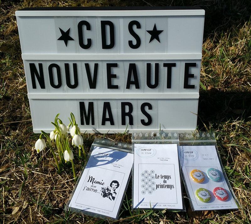 Nouveautés Mars 2017 Comptoir du scrap par OPerla