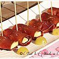 Bouchées viande des grisons raclette et raisin blanc