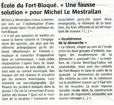 école du Fort Bloqué