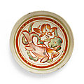 A very rare polychrome painted 'cizhou' bowl with fish, jin dynasty, 12th-13th century