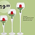 Grands verres pour centre de table