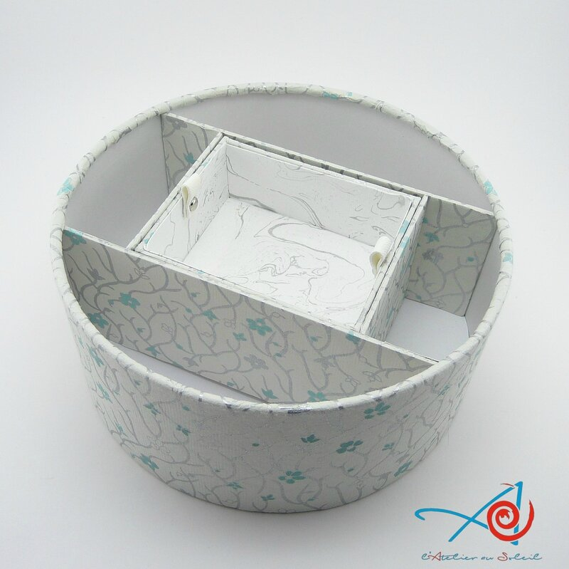 Boîte ronde japonaise ouverte - vue de dessus (Copier)