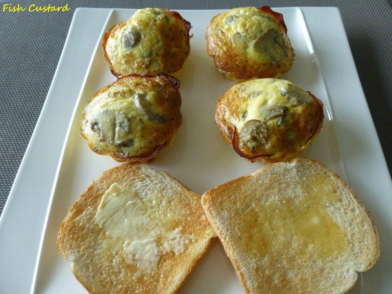 Mini frittata au bacon, parmesan, oignons et champignons (2)