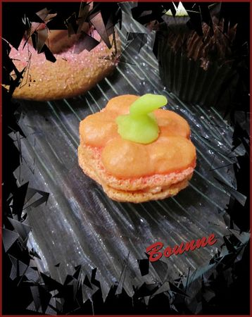 dessert halloween 2012 macaron citrouille(2)