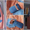 sac jeans et étui portable