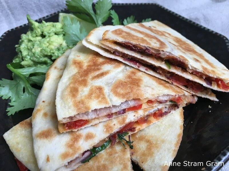 Quesadillas aux haricots rouges