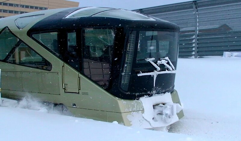 TRAIN SUITE Shiki-Shima 1 - Extreme Winter Conditions Test Run !
