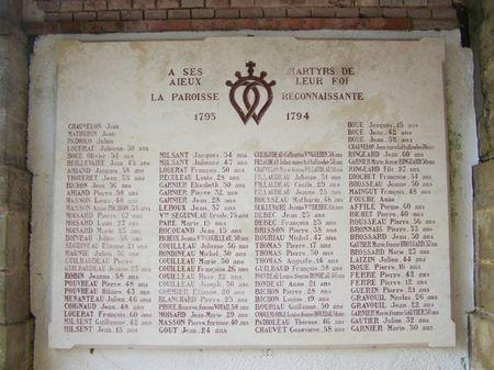 Saint Hilaire de Chaleons Guerre de Vendee