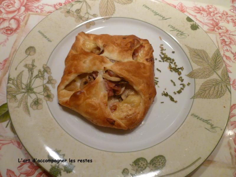 Paniers feuilletés aux champignons, bacon et comté1