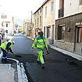 Les travaux de pont-du-fossé en photos le 16 /10/ 2012