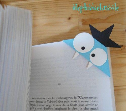 marque page monstre rigolo - livre