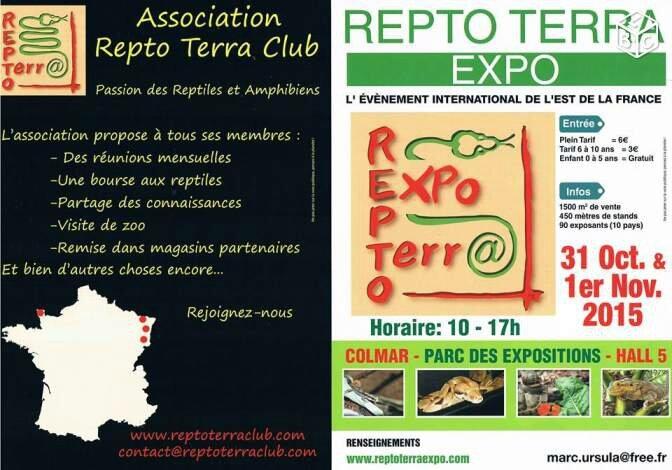 Bourse terrariophile Colmar Repto Terra Expo