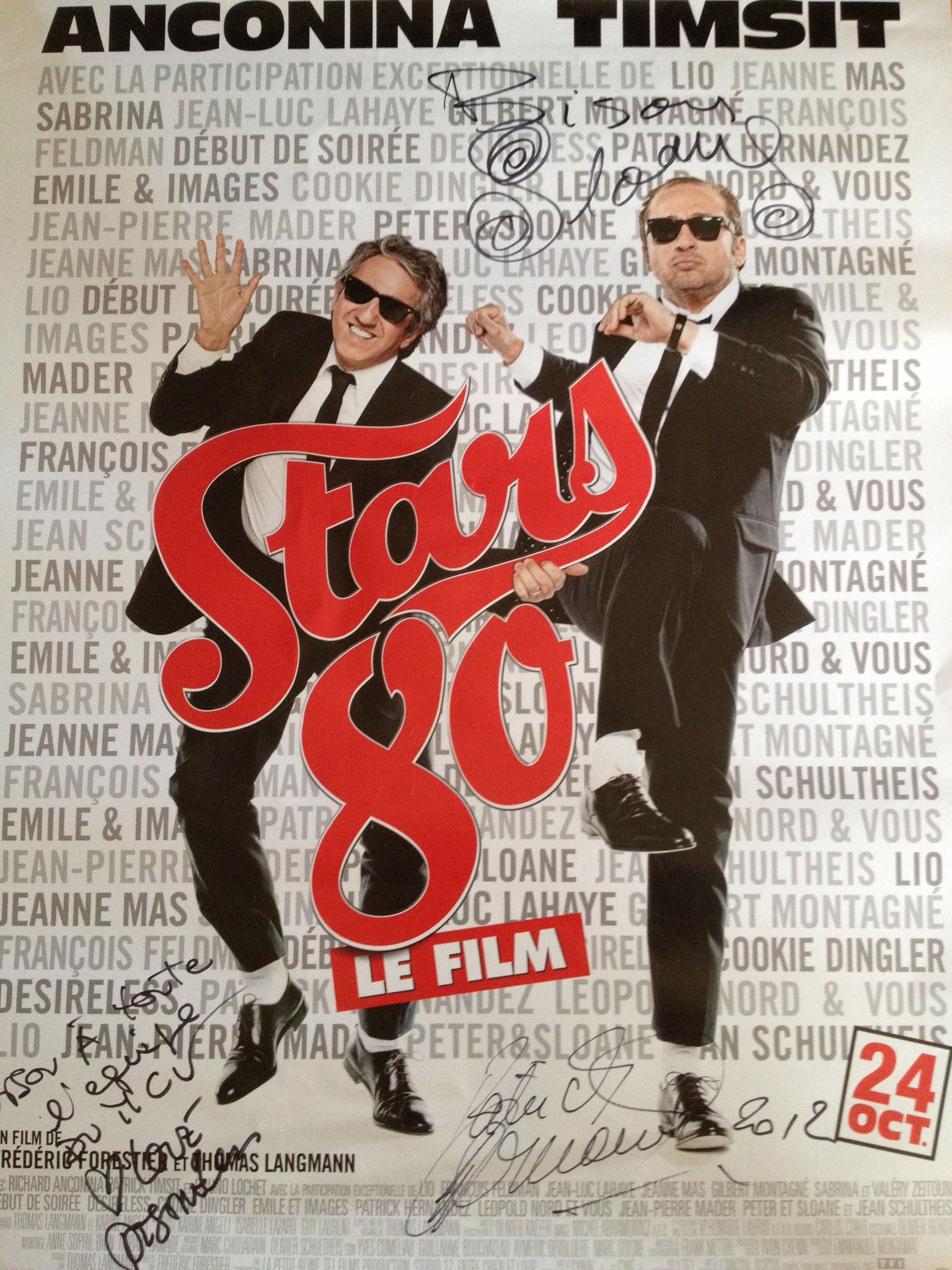 Affiche dédicacée du film