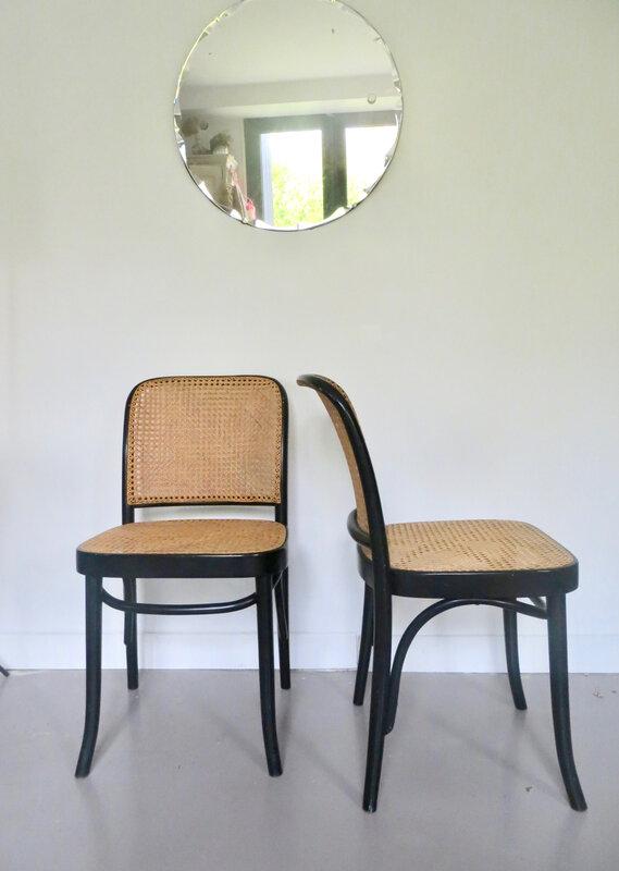 chaises cannées Thonet