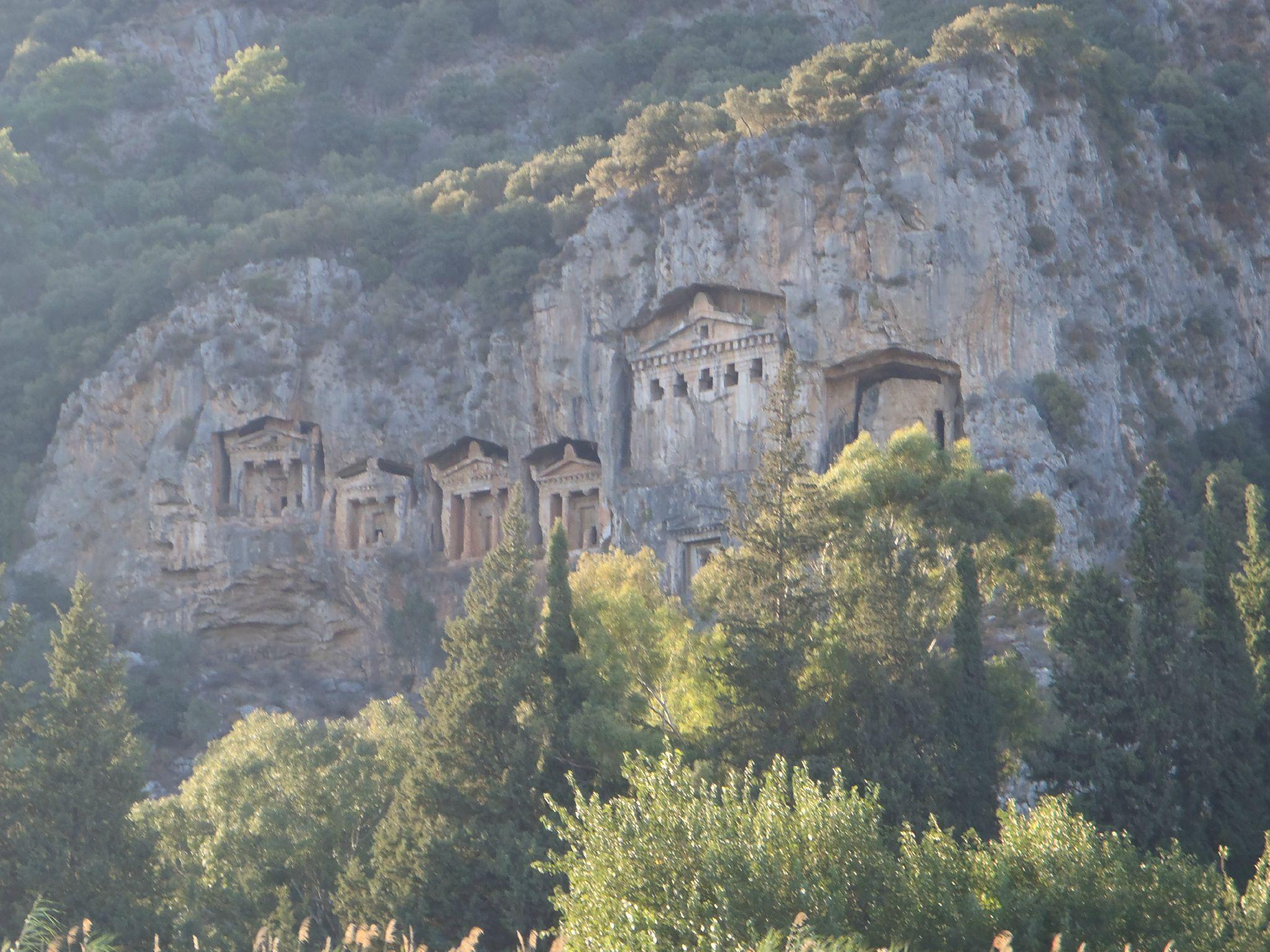 turquie : dalyan tombeaux lyciens