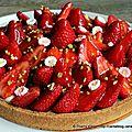 Tarte aux fraises en toute simplicité