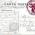 Versailles, correspondance avec cachet du 43e RAC 63e batterie de dépôt 11e pièce 21.08.1914