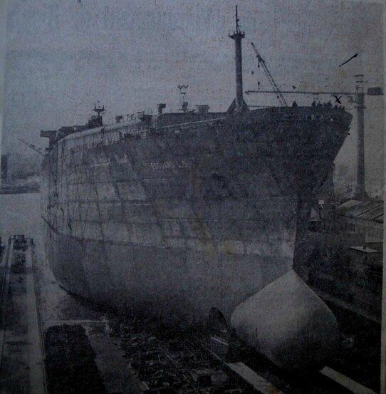 3) Lancement de navire aux chantiers de France Dunkerque