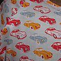 Robe RAYMONDE en coton ciel imprimé petites voitures - taille M-L (5)