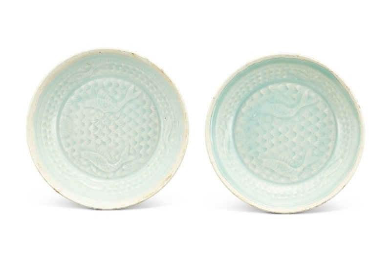 A pair of qingbai 'fish' dishes Southern Song dynasty