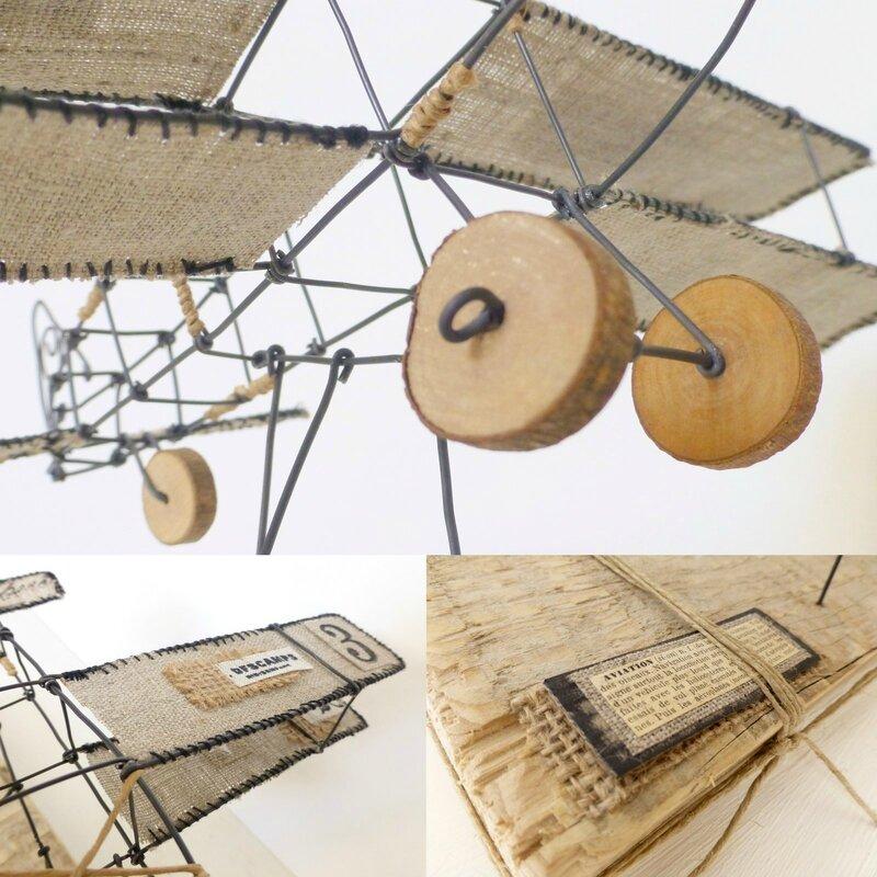 Avion fil de fer, wire plane, trois fois rien, fil de fer 4