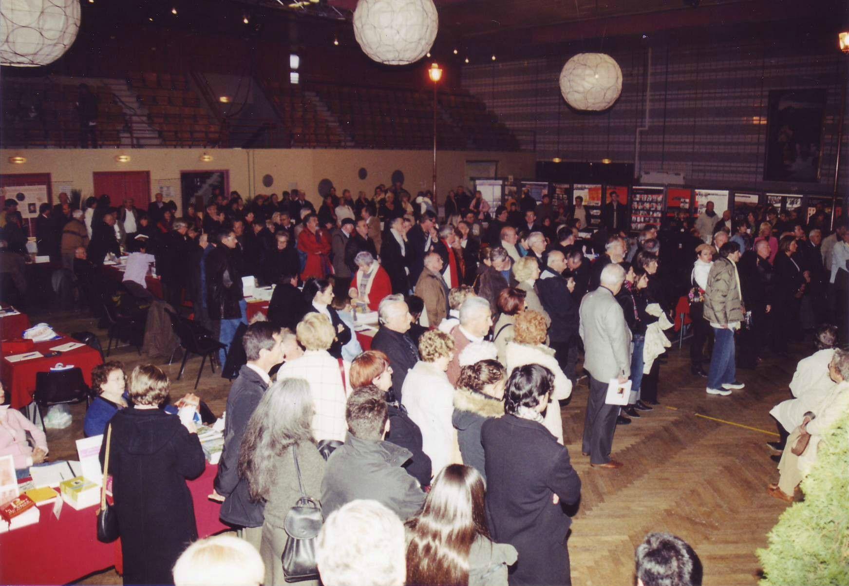 Le public, nombreux, lors de l'inauguration