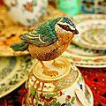 Oiseaux brodes en 3d