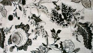 tissu noir blanc