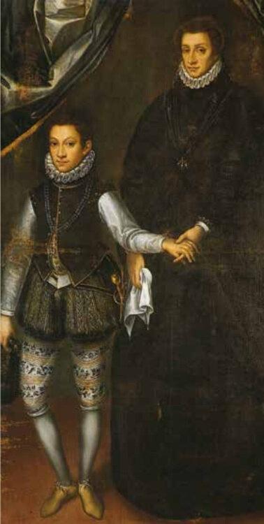 Caracca_Ritratto di Margherita con il figlio Carlo Emanuele I, olio su tela, ca