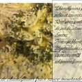 Salade de champignons crus sauce moutarde