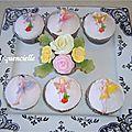Cupcakes fées et fleurs