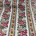 15.303 tissu ancien vintage a texture fleuri avec rayures
