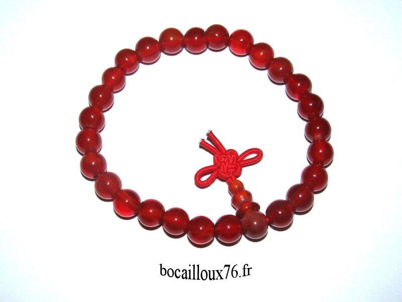 Bracelet CORNALINE 4 Perles 6mm (4)