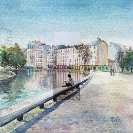 Canal Saint Martin 20x20 w