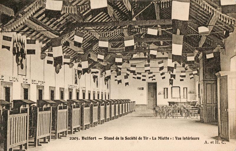Belfort CPA Mont Stand Tir Vue intérieure BF 1909