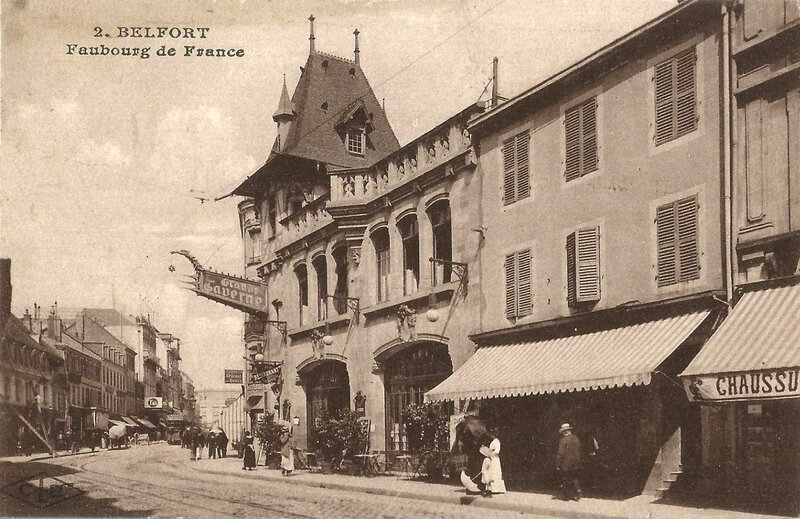 CPA Belfort Grande Taverne Façade
